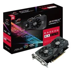 Видеокарта ASUS ROG Radeon RX 560 1326MHz PCI-E 3.0 4096MB 7000MHz 128 bit DVI DisplayPort HDMI HDCP Strix Gaming OC