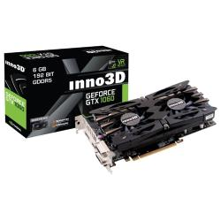 Видеокарта Inno3D GeForce GTX 1060 1506Mhz PCI-E 3.0 6144Mb 8000Mhz 192 bit 2xDVI HDMI HDCP X2