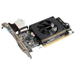 Видеокарта GIGABYTE GeForce GT 710 954Mhz PCI-E 2.0 1024Mb 1800Mhz 64 bit DVI HDMI HDCP
