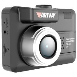 Видеорегистратор с радар-детектором Artway MD-105 COMBO 3 в 1 Compact, GPS