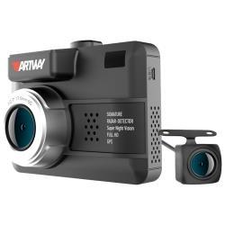 Видеорегистратор с радар-детектором Artway MD-109 Signature 5 в 1 Dual, 2 камеры, GPS