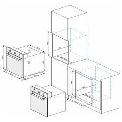 Электрический духовой шкаф DARINA 2V5 BDE112 708 B