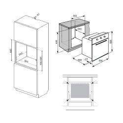 Электрический духовой шкаф Weissgauff EOV 18 PB