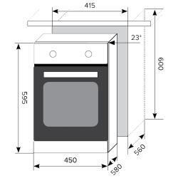 Электрический духовой шкаф LEX EDM 4570 BL