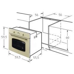 Электрический духовой шкаф MONSHER MBO 65M90M3 DB IV
