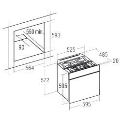 Электрический духовой шкаф CATA CDP 780 AS WH