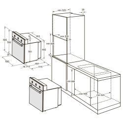 Электрический духовой шкаф DARINA 1U5 BDE111 707 X