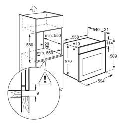 Электрический духовой шкаф Electrolux EZB 55420 AW