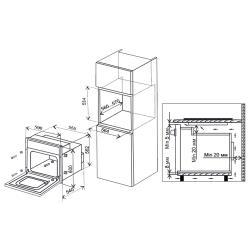 Электрический духовой шкаф Electronicsdeluxe 6009.02эшв-012