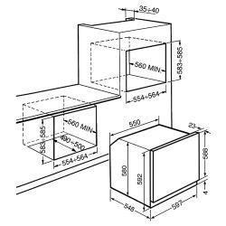Электрический духовой шкаф smeg SFP140
