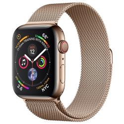 Умные часы Apple Watch Series 4 GPS + Cellular 44мм Stainless Steel Case with Milanese Loop