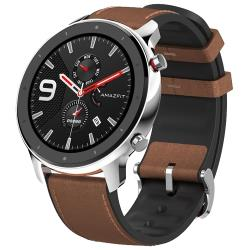 Часы Amazfit GTR 47 mm stainless steel case, leather strap