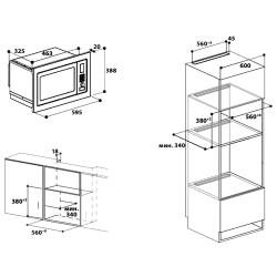 Микроволновая печь встраиваемая Indesit MWI 121.2 X