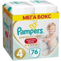 Pampers Premium Care трусики 4 (9-15 кг) 76 шт.
