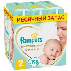 Pampers подгузники Premium Care 2 (4-8 кг) 198 шт.
