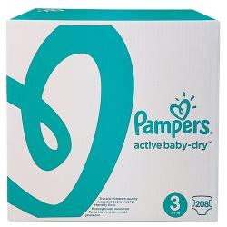 Pampers подгузники Active Baby-Dry 3 (5-9 кг) 208 шт.