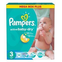 Pampers подгузники Active Baby-Dry 3 (4-9 кг) 186 шт.
