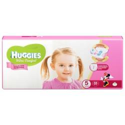 Huggies подгузники Ultra Comfort для девочек 5 (12-22 кг) 56 шт.