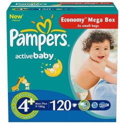 Pampers подгузники Active Baby 4+ (9-16 кг) 120 шт.