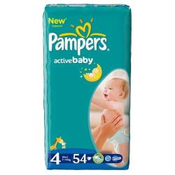 Pampers подгузники Active Baby 4 (7-14 кг) 54 шт.